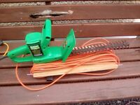Qualcast electric hedge trimmers with extension lead
