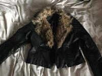 Faux fur jacket from select