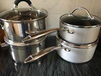 4 LARGE COOKING PANS