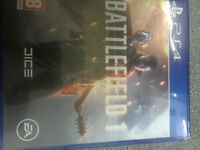 Battlefield 1 PS4 Played once Mint Condition