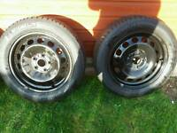 "4 x 16"" vw wheels & tyres"