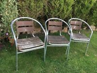 Garden chairs - usable but in need of re-staining FREE