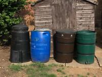 Waterbutts and compost Bin