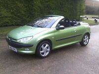 2002 Peugeot 206 1.6 Convertible **p/x welcome**