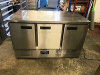 Commercial bench counter pizza fridge for pizza meat chiller restaurant cdzSs