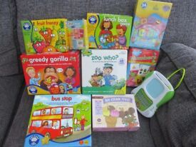 10 VARIOUS KIDS GAMES (3-7 AGE) - SOME UNOPENED