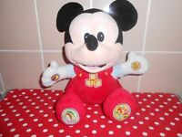 DISNEY'S TALKING BABY MICKEY MOUSE SOFT TOY