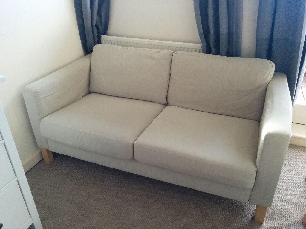 ikea karlstad 2 seater sofa in light grey in putney london gumtree. Black Bedroom Furniture Sets. Home Design Ideas