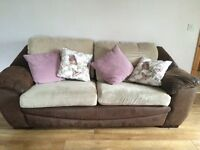 DFS Sofa 3 and 2 seater and pouffe