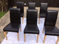 Leatherate High Back Dining Chairs