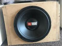 Reduced 12 inch jbl subwoofer in custom box
