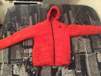 North face red reversible jacket (must see) 15/16 size
