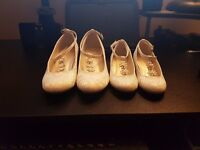 Monsoon Kids Ivory Wedding Shoes Size 2 and 8