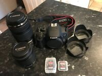 Canon EOS 700D Package (Includes lenses, memory cards, batteries & charger etc.)