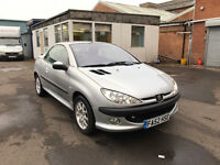 Peugeot 206 CC 1.6 S Convertible 2dr Petrol Manual (166 g/km, 110 bhp) PART EX WELCOME