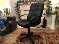 Real leather computer chair