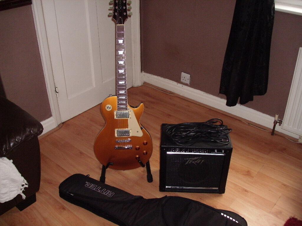 Tanglewood TSB58 les paul electric guitar peavey amp gigbag strap £225ono
