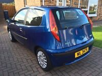 2003 FIAT PUNTO ACTIVE 1.2 PETROL BLUE 3 DOOR **LOW MILEAGE 64k!!**MOT til END JAN 2017