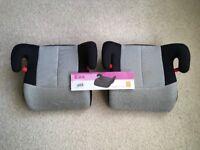 x2 BELLELLI Eos CAR BOOSTER SEATS