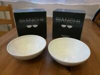 Brand new Rosentahl Bianchi muesli bowl 2 piece set. (2 sets)