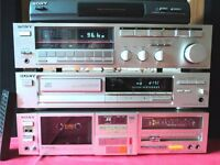 Sony Vintage Hi Quality Separates Tuner/400w Amp/ Cassette Deck/Record Player/CD & Speakers VGC