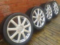 "GENUINE AUDI 21 INCH 21"" SPEEDLINE Q7 S LINE ALLOYS WHEELS AND TYRES 5X130 A4 A5 A6 A7 A8 VW TOUAREG"