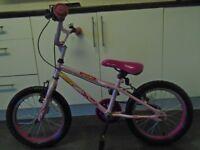 girls pink 16 in apollo roxie bike