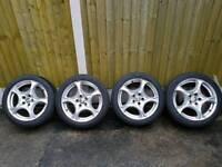 "Alfa Romeo 17"" Alloy Wheels + Tyres"