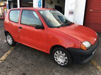 2000 FIAT SEICENTO 899cc MIA 3DR 49K MOT JULY 2016 CHEAP INSURANCE IDEAL FIRST CAR