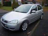 Vauxhall Corsa Design 1.3CDTI - 2006 108,000 miles, £30 tax, 5-door, A/C, alloys, sunroof, silver