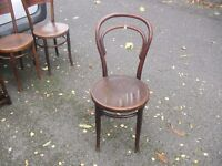 Antique Iconic Beech Bentwood Cafe Bistro Chair