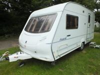 ACE AWARD DAWNSTAR(SWIFT GROUP) 2 BERTH CARAVAN 2004+FULL AWNING+EXTRAS