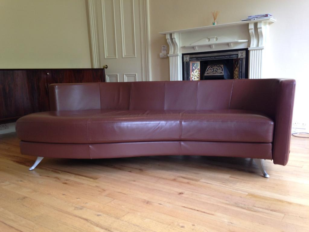 Designer Leather Rolf Benz Sofa In Hyndland Glasgow