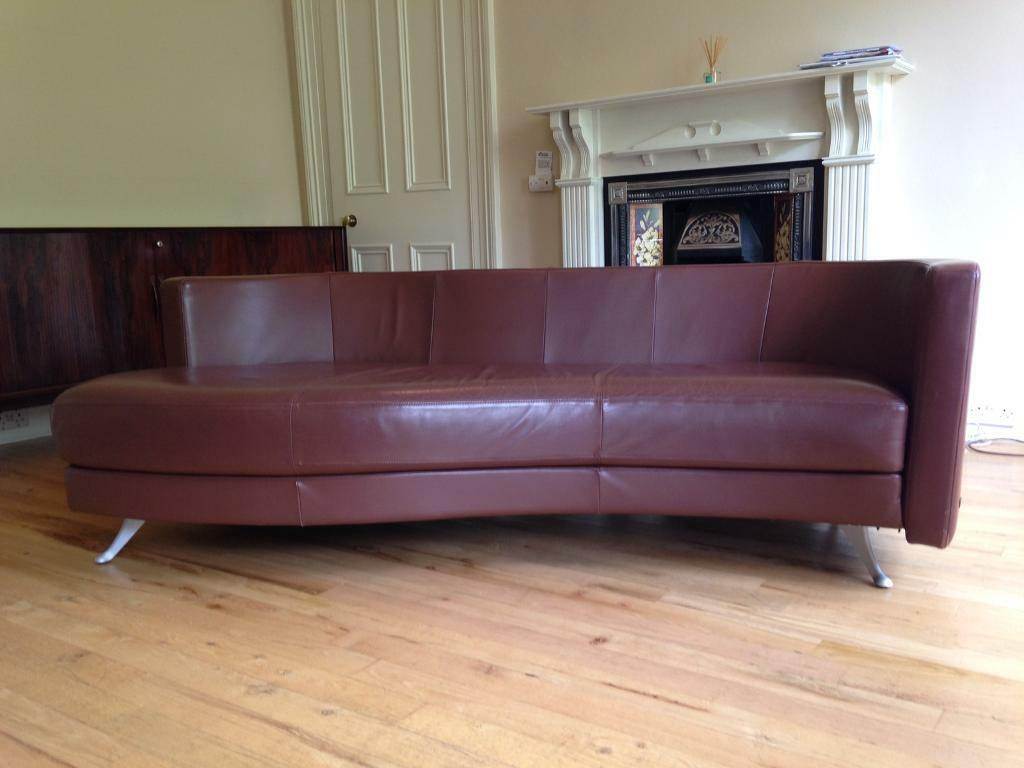 Designer leather Rolf Benz sofa