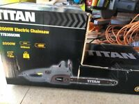 Chainsaw - Titan 2000W 230V Corded 40.5cm Electric Chainsaw (unused - still in unopened box)