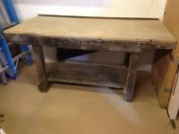 Work bench (wooden) very heavy with a thick Mdf top