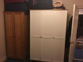White three door wardrobe