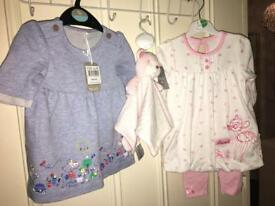 Brand new with tags baby girls clothes bundle
