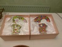 Leonardo collection CUP AND BISCUIT / CAKE PLATE box new not used x2