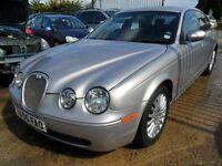 jaguar s type 2.7 twin turbo diesel silver full black leather 2005 motd