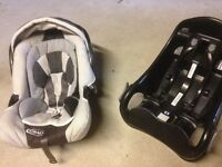 Graco baby seat with isofix base