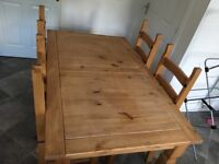 Dining table and 6 matching chairs for sale - £50 ono for quick sale