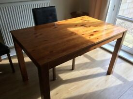 Solid wood table (sturdy with surface damage)