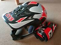 Motorbike mini moto quad bike helmet & gloves