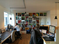 2 large desks for rent in bright Dalston - Haggerston office