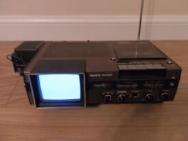 Vintage Retro Sony FX-412Uk Tv-- Fm/Sw/Mw Receiver & Cassette Corder