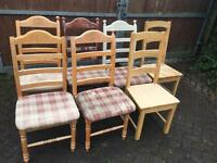 7 Oak Chairs