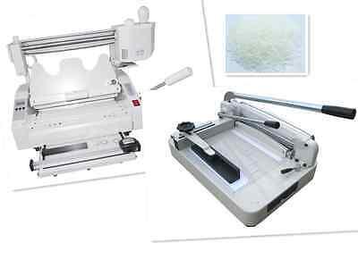 A4 Stack Paper Book Cutter Guillotinewireless Glue Binding Machine Hard Cover