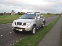 Nissan Navara 2009 (58 reg) Aventura Pickup, D40 double cab, 2.5 dCi, low miles