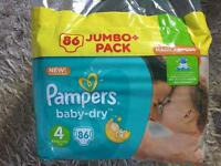 Brand new 86 pack pampers